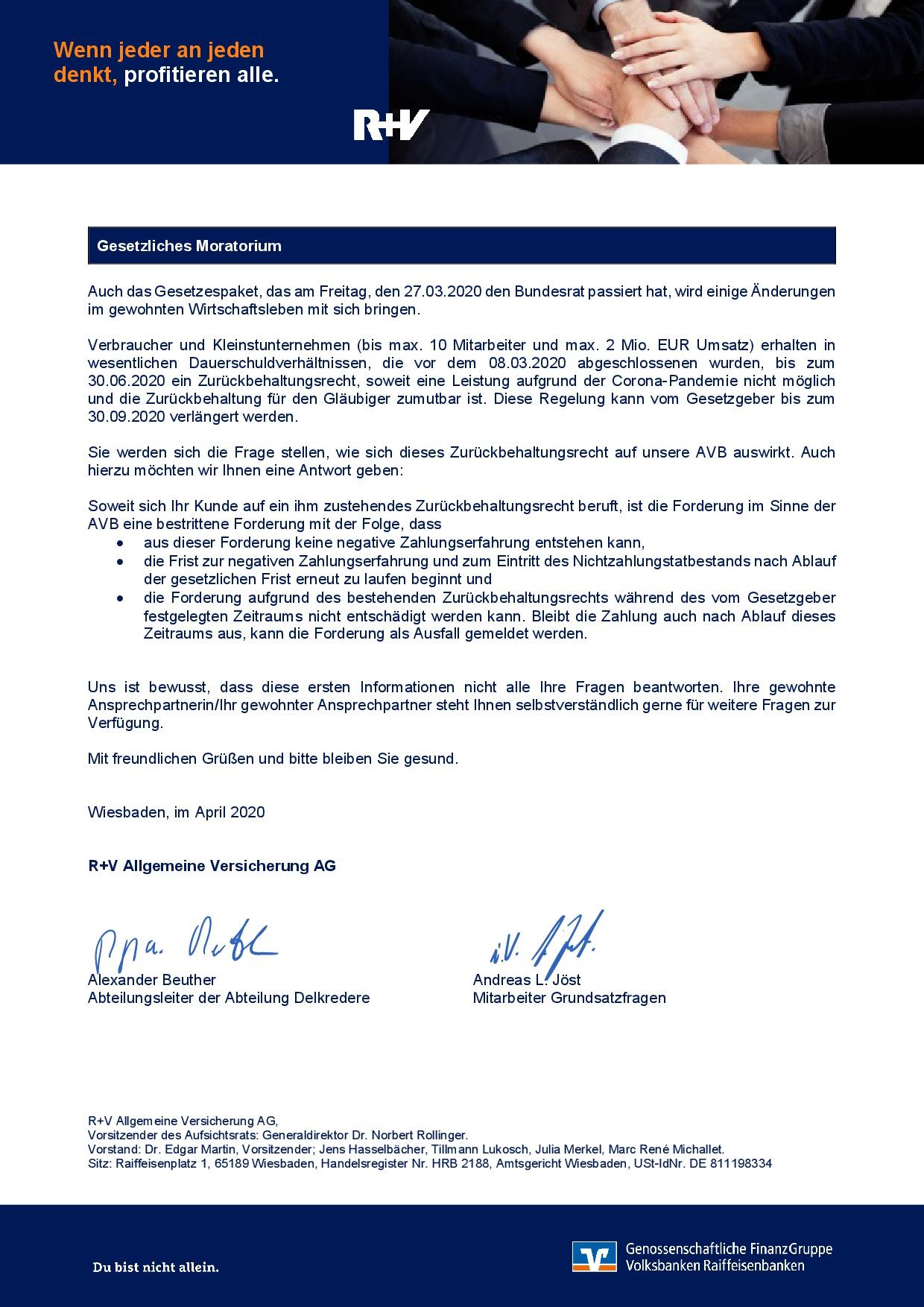 20200417 R+V Informationsschreiben Corona Kreditversicherung S2