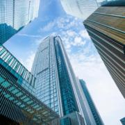 Hochauser als Zeichen von Großunternehmen Konzernen Excess of Loss Kreditversicherung
